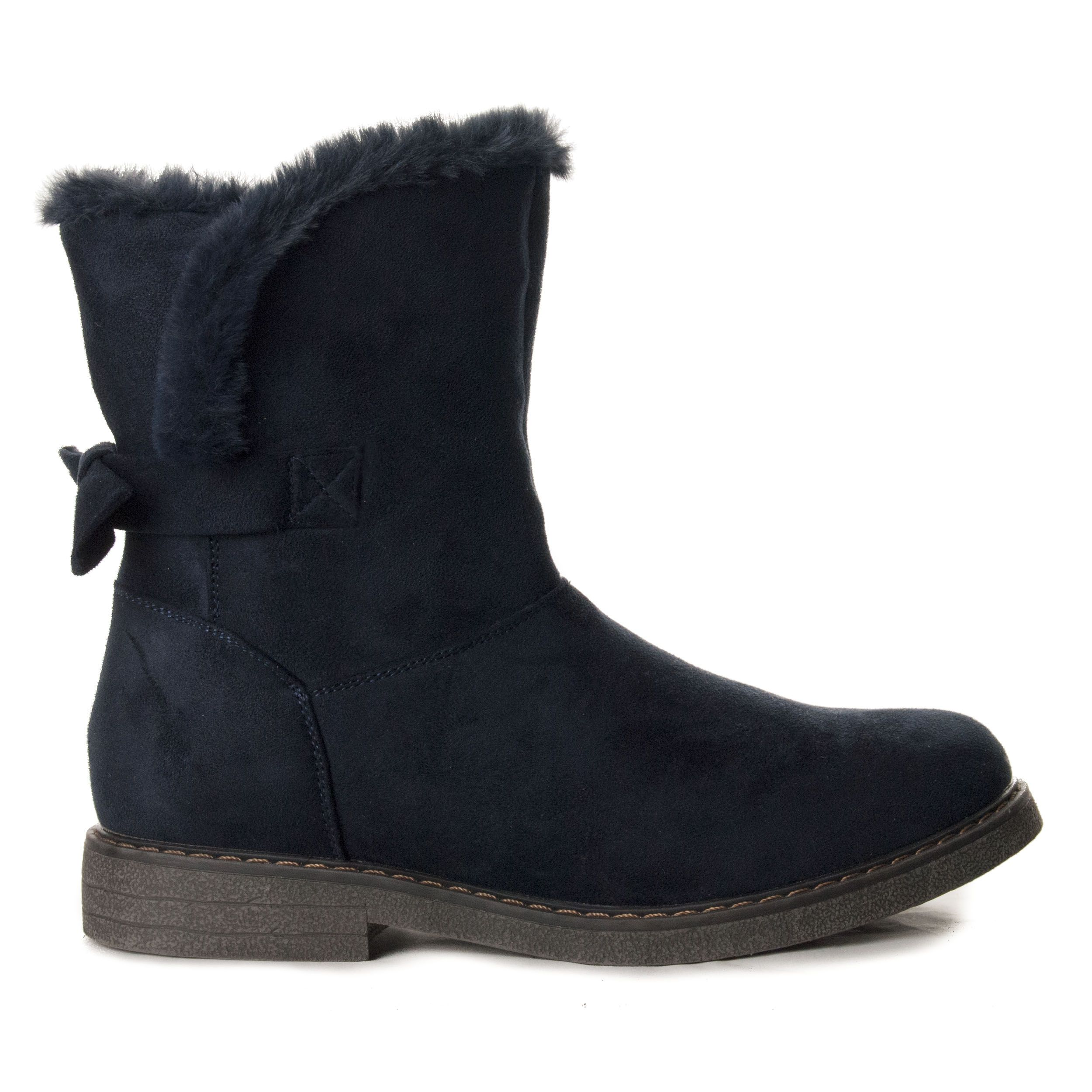 Montevita Flat Ankle Boot in Blue