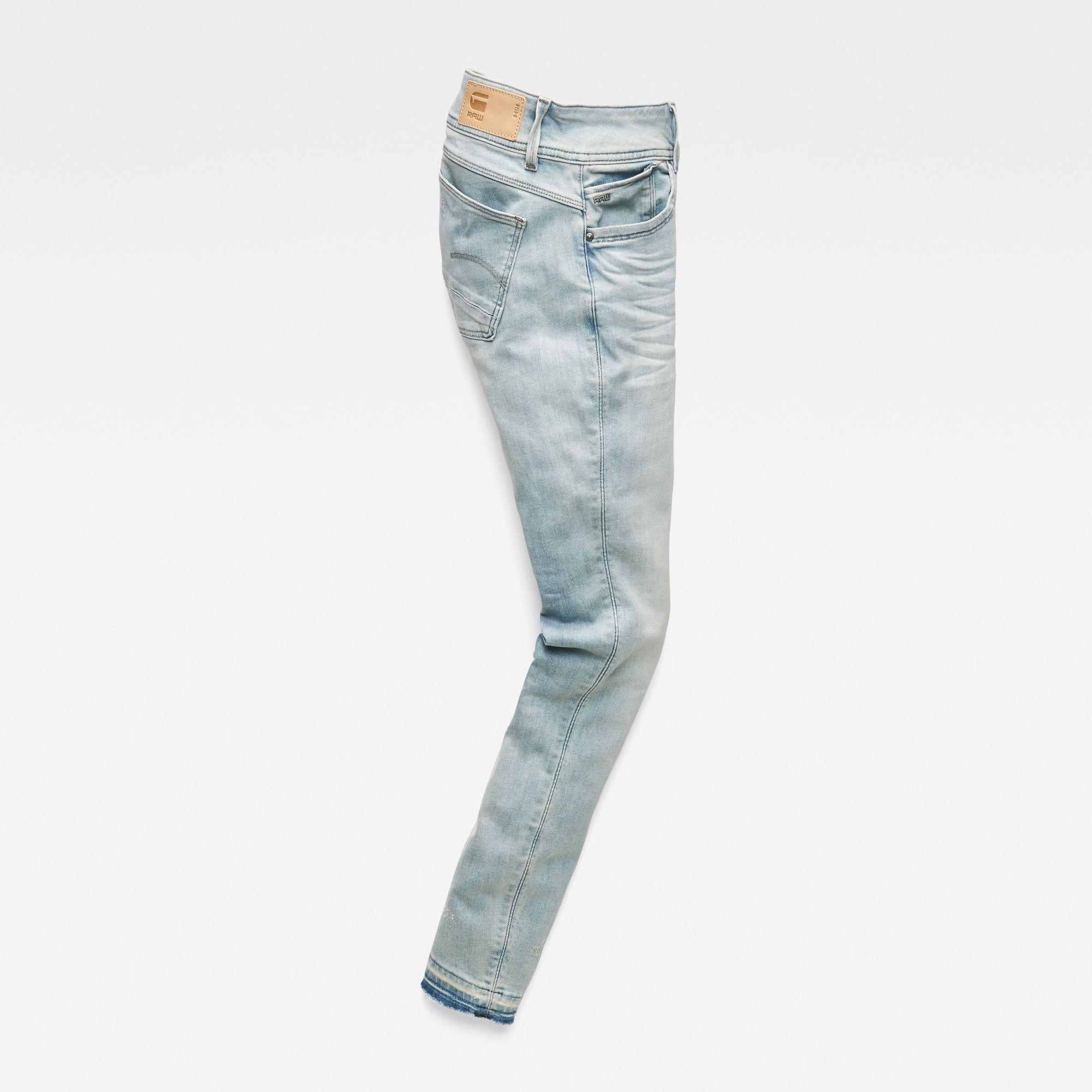 G-Star RAW Lynn Mid Waist Skinny Ripped Jeans