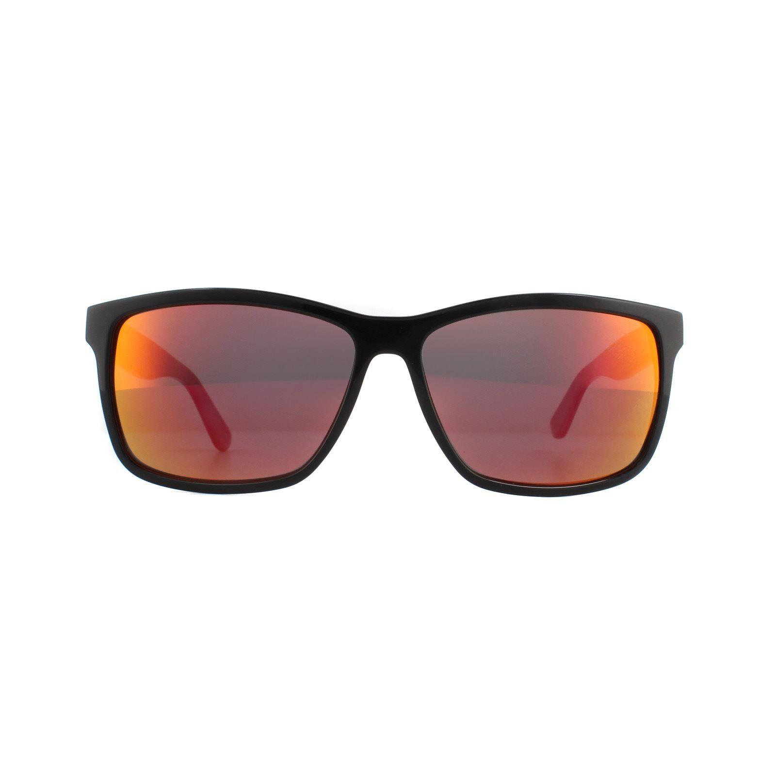 Lacoste Sunglasses L705S 003 Black Grey Red Mirror