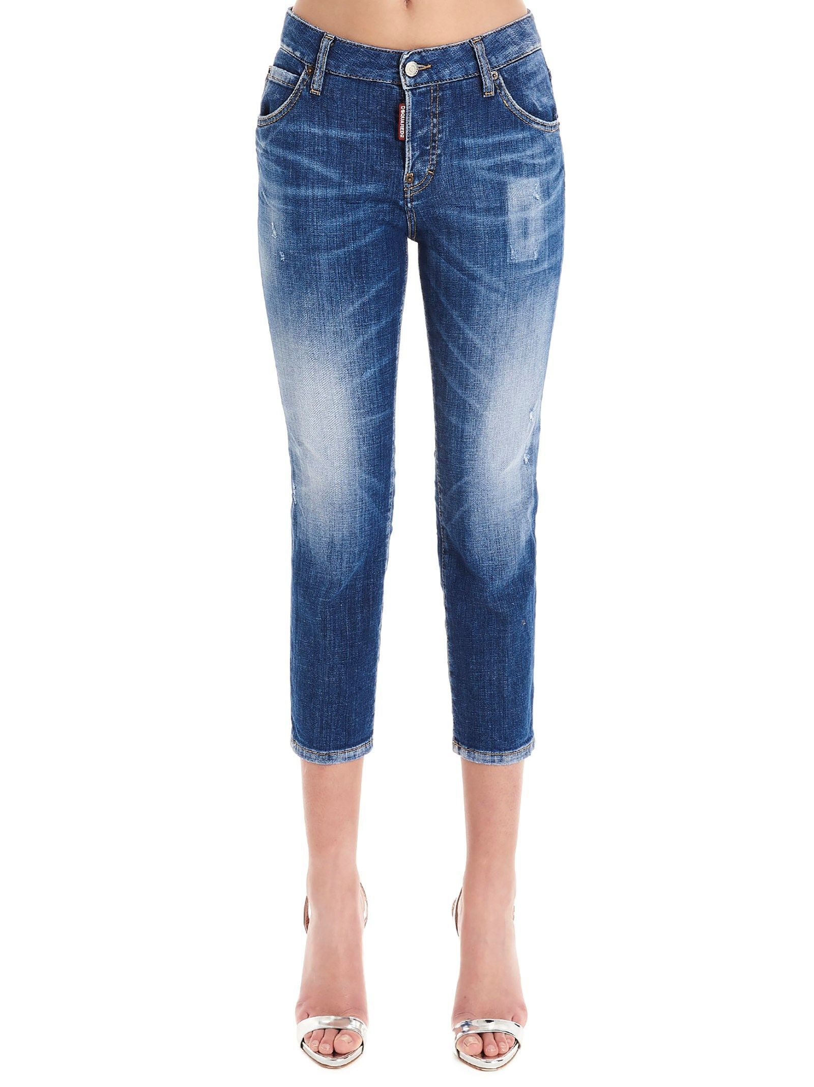 DSQUARED2 WOMEN'S S75LB0322S30342470 BLUE COTTON JEANS