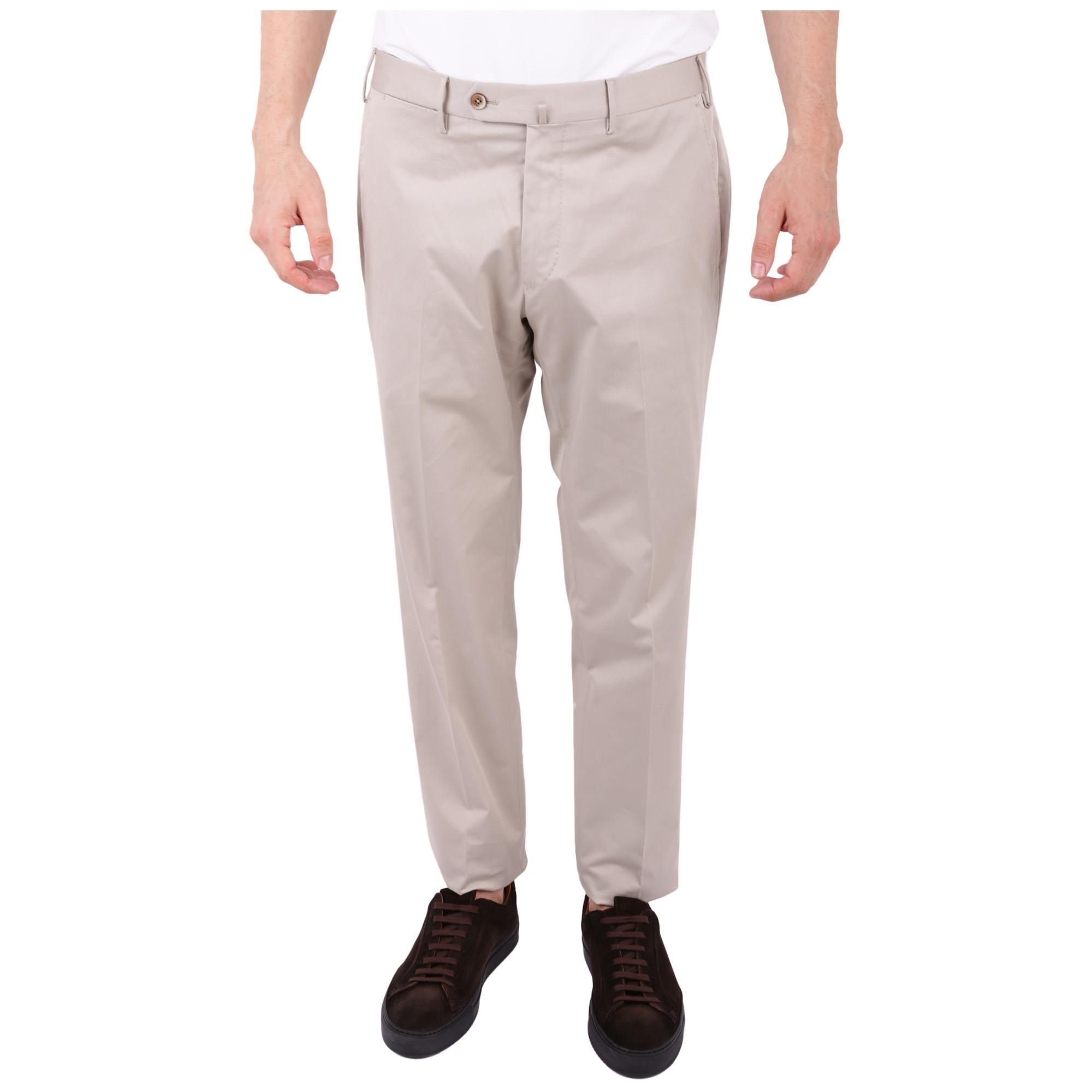 PT01 MEN'S CONS01ZT0CLAMP280020 BEIGE COTTON PANTS