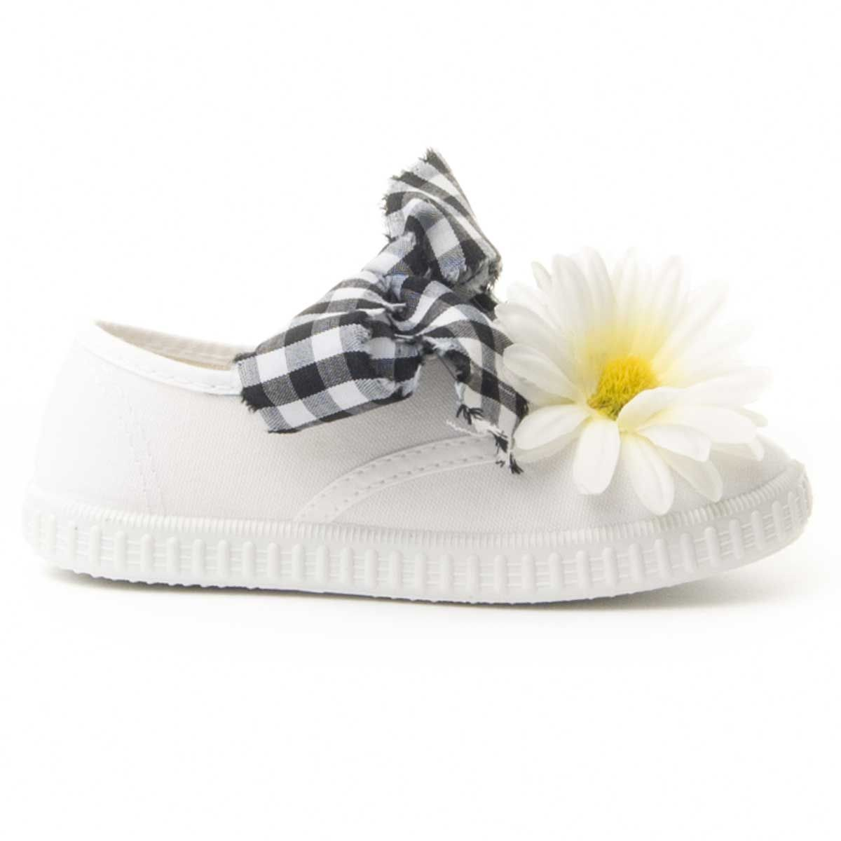 Maria Graor Floral Sneaker in White