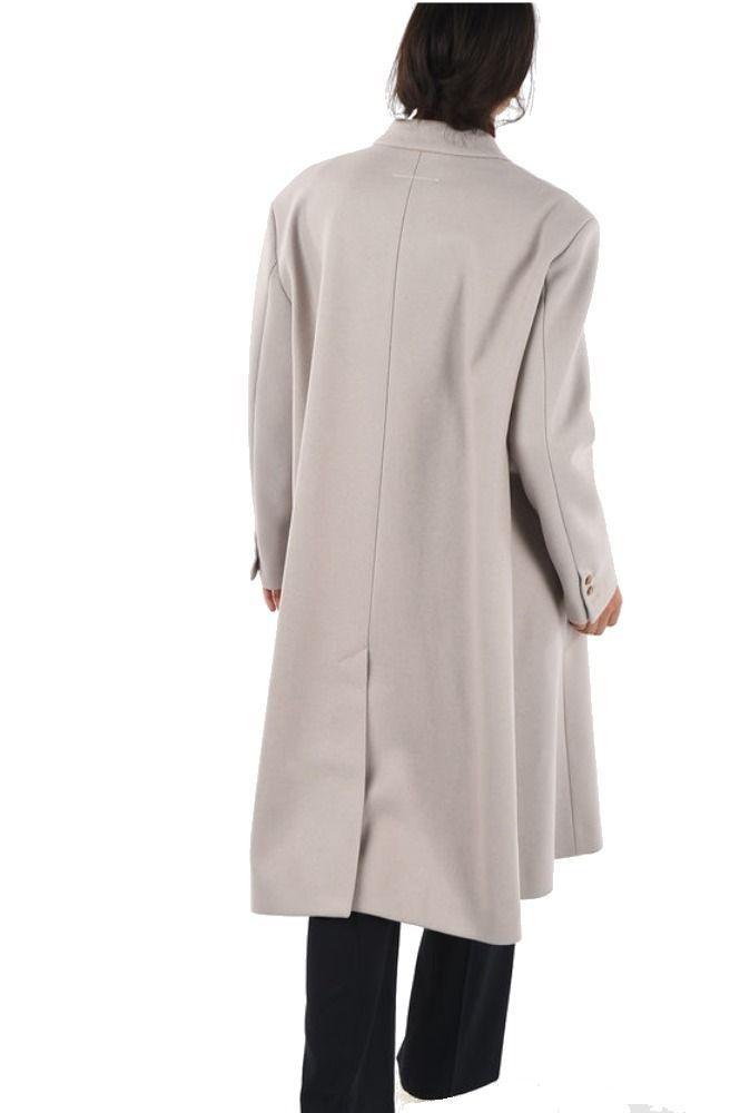 MAISON MARGIELA WOMEN'S S32AA0159S52207112 GREY WOOL COAT