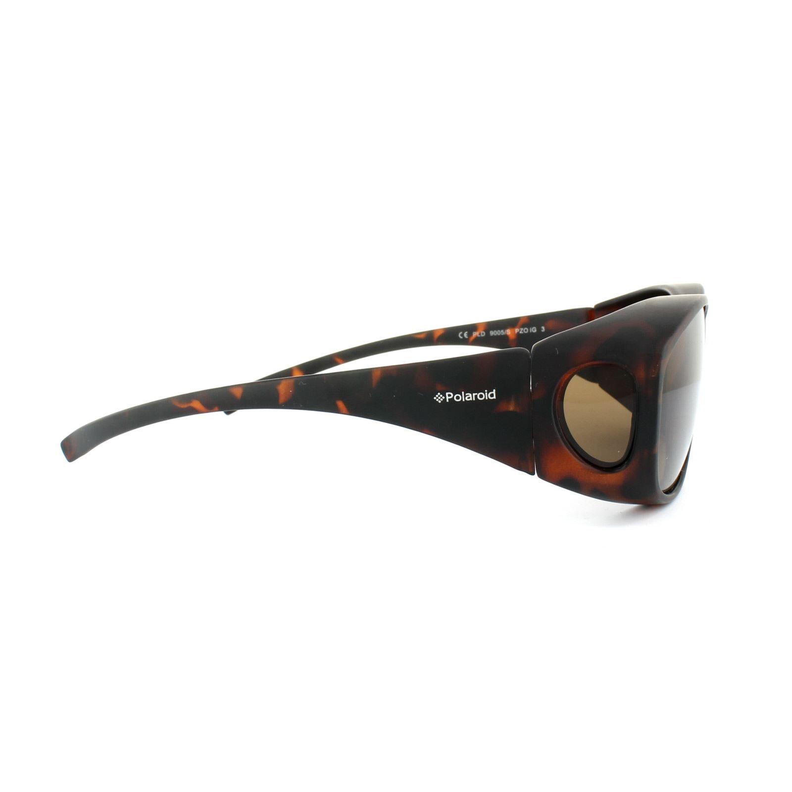 Polaroid Suncovers Fitover Sunglasses 9005/S PZO IG Matte Dark Havana Brown Polarized
