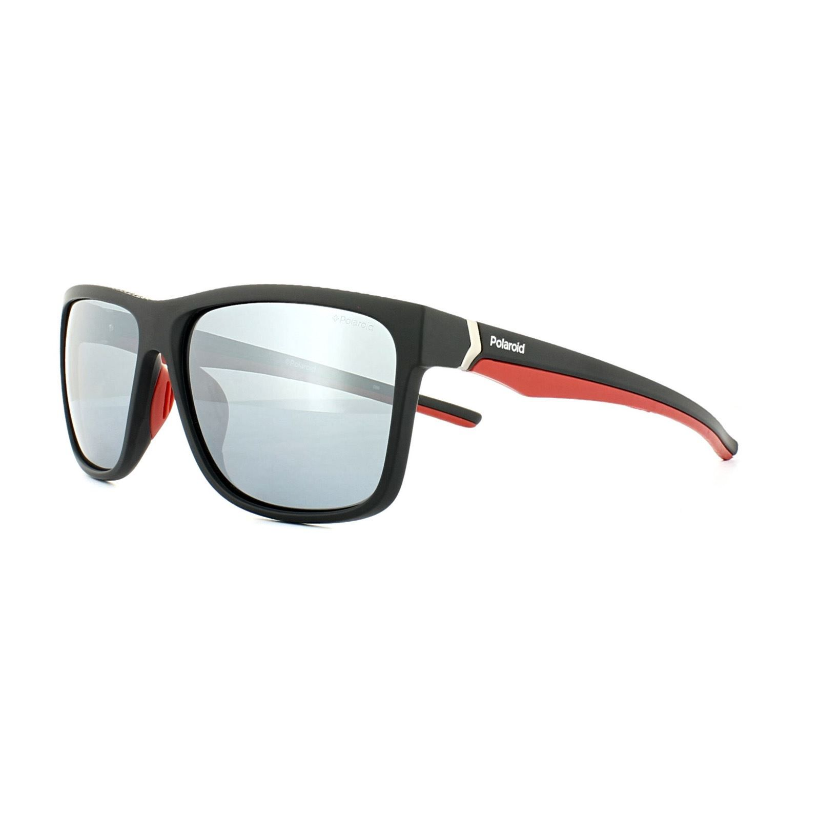 Polaroid Sport Sunglasses PLD 7014/S OIT EX Black Red Grey Silver Mirror Polarized