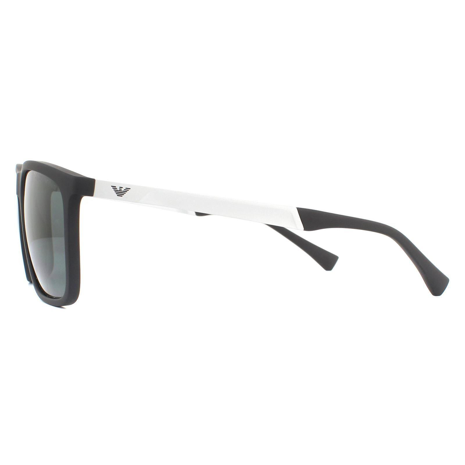Emporio Armani Sunglasses EA4150 506387 Rubber Black Grey