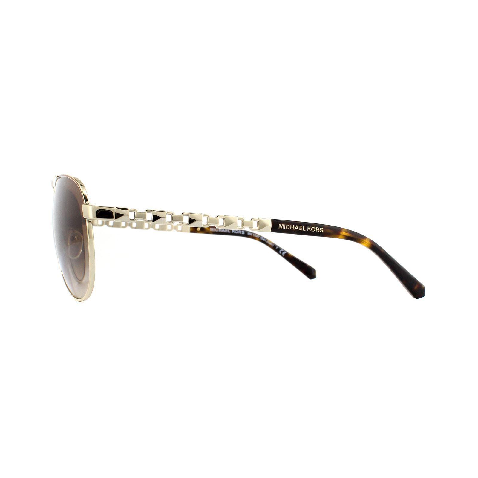 Michael Kors Sunglasses San Juan MK1047 101413 Light Gold Dark Brown Gradient