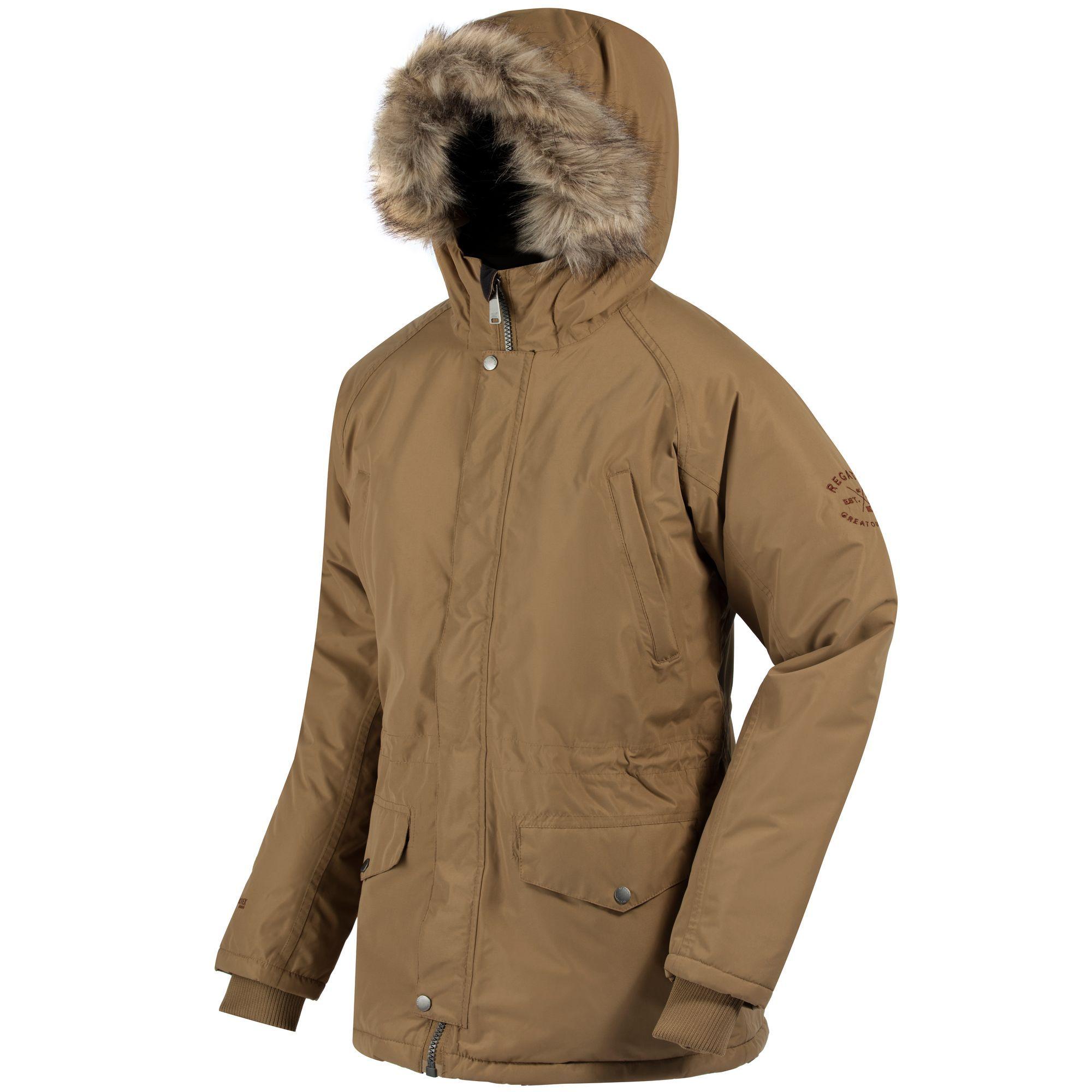 Regatta Great Outdoors Mens Salton Waterproof Insulated Parka Jacket (Dark Camel)