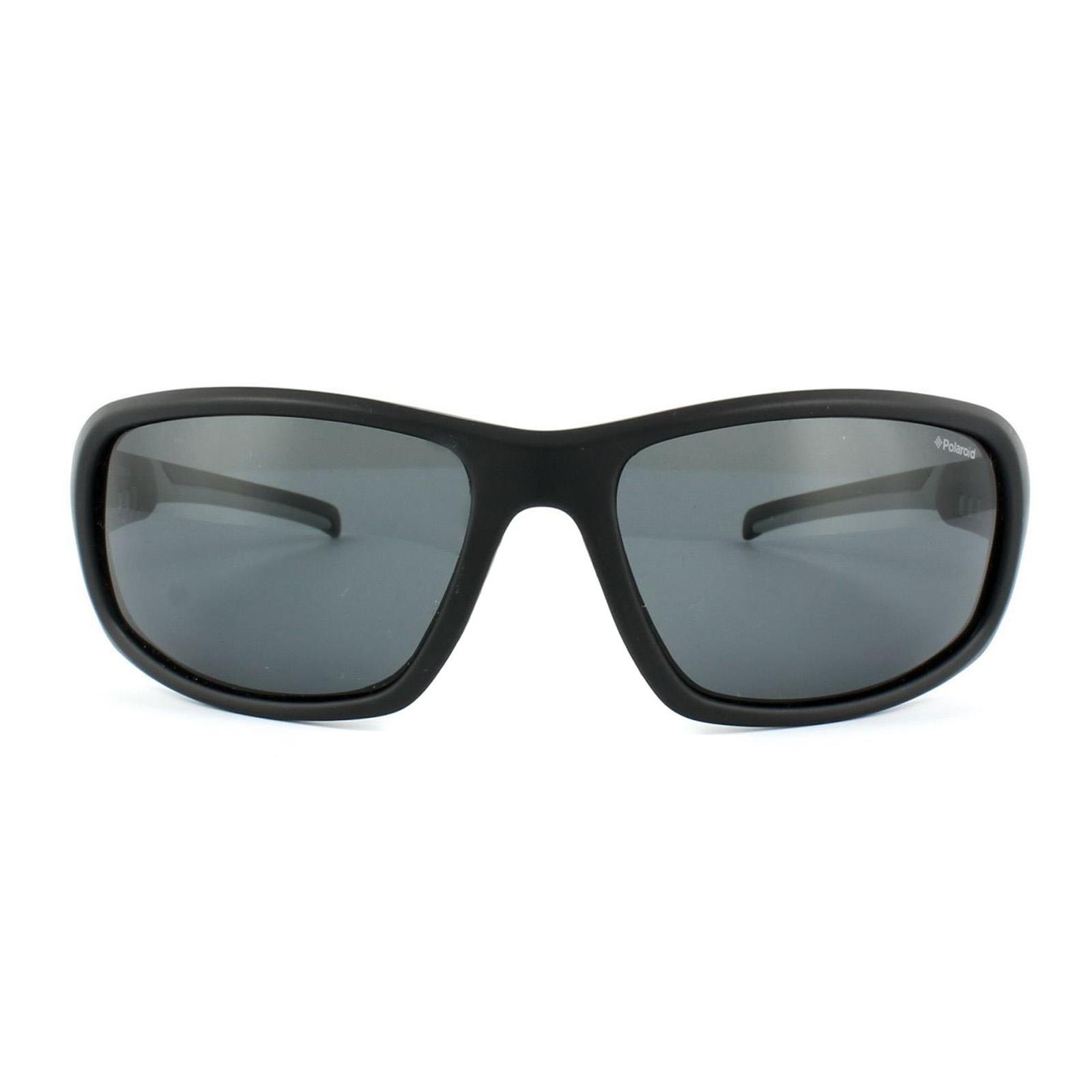 Polaroid Sport Sunglasses P7406 08A Y2 Black & Grey Grey Polarized