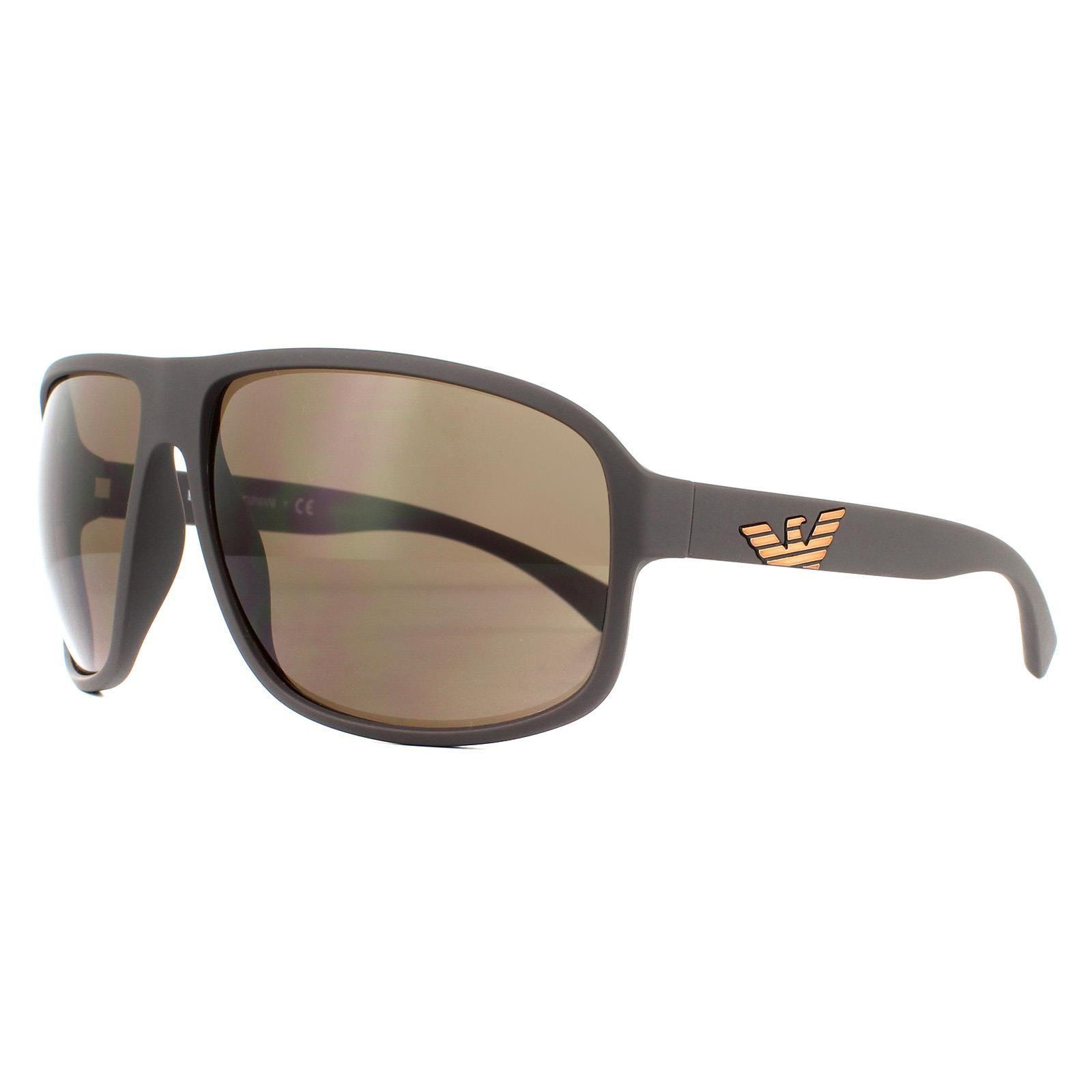 Emporio Armani Sunglasses EA4130 575573 Matte Brown Brown