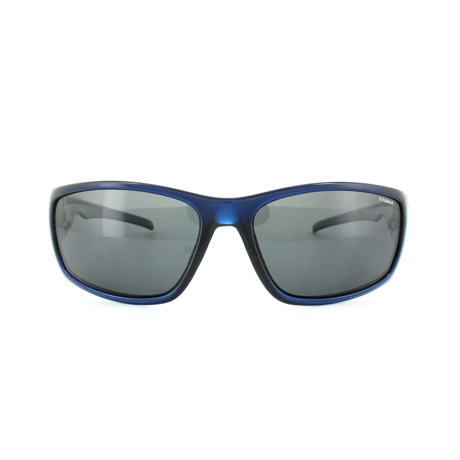Polaroid Sport Sunglasses P7407 0BQ Y2 Blue Grey Polarized