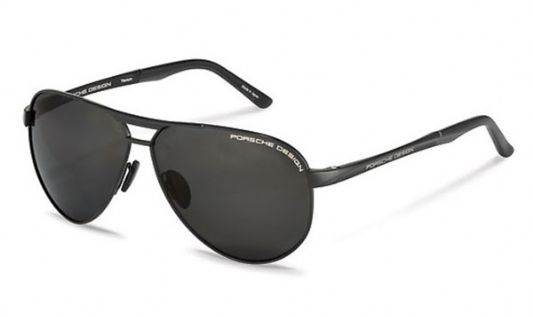Porsche Avaitor acetate Unisex Sunglasses Black / Green Polarized