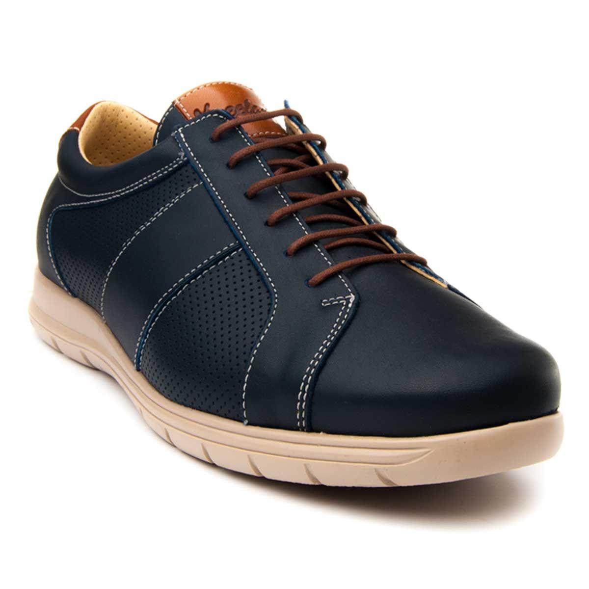 Purapiel Cleated Sole Sneaker in Blue