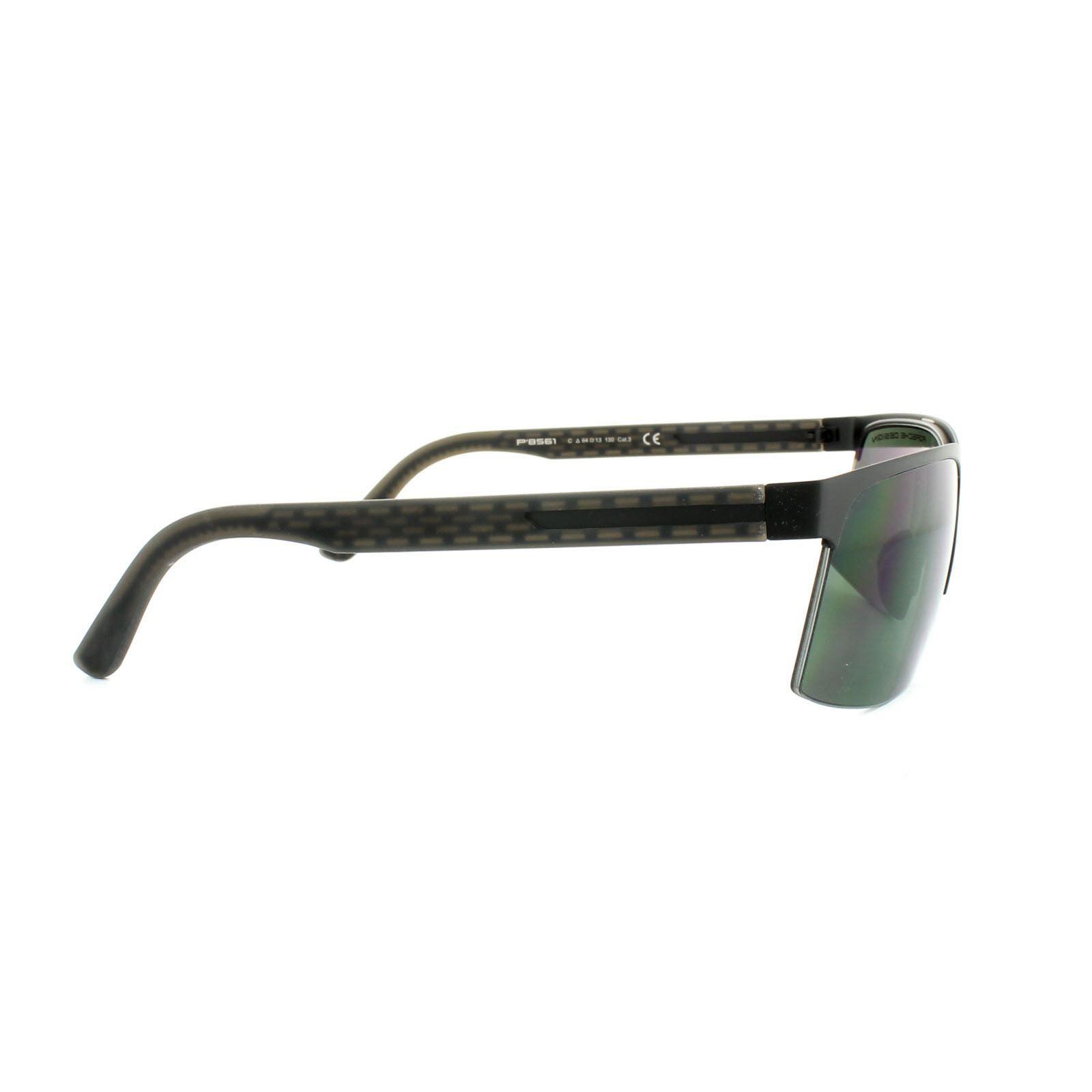 Porsche Design Sunglasses P8561 C V601 Black Green