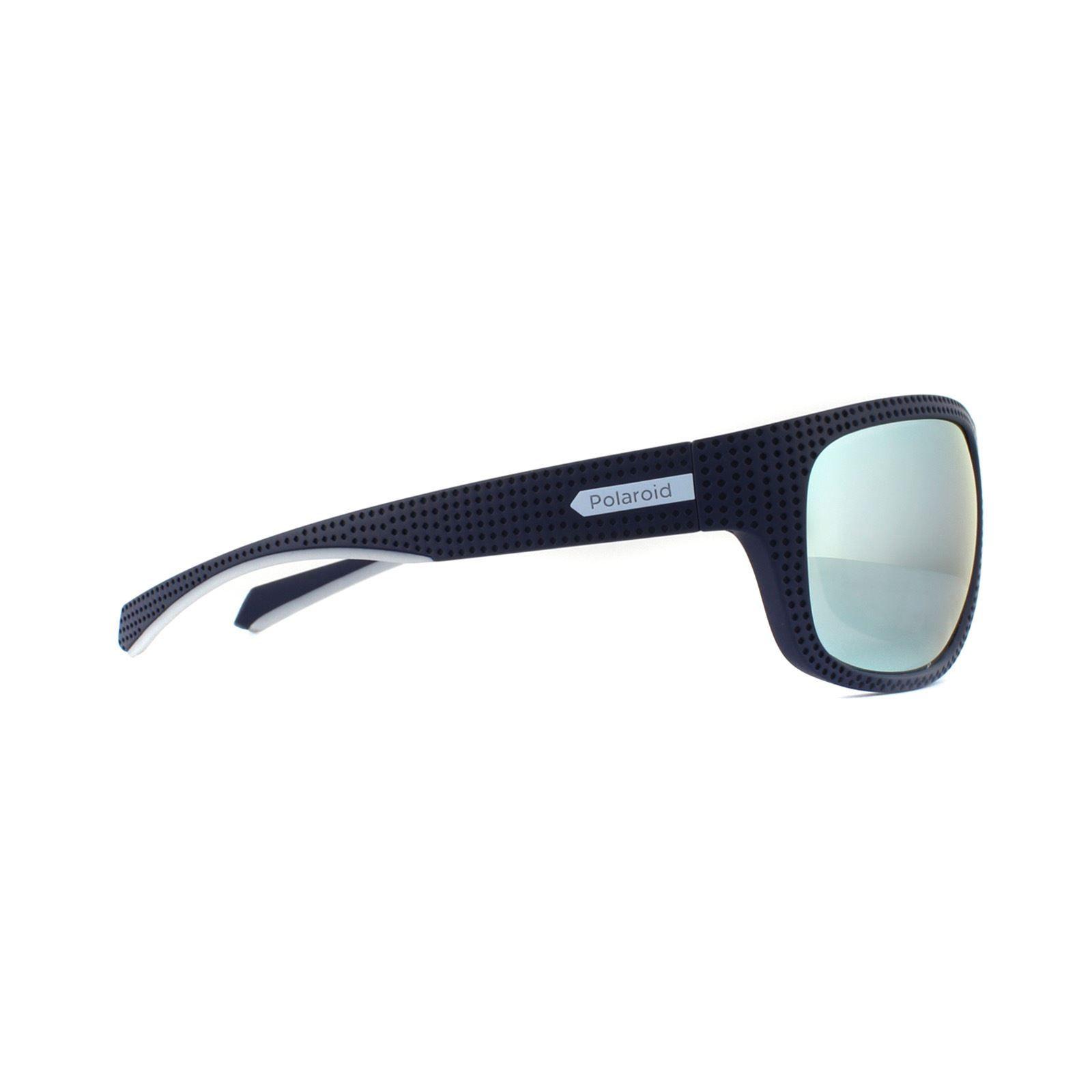 Polaroid Sport Sunglasses PLD 7022/S PJP EX Blue Grey Silver Mirror Polarized