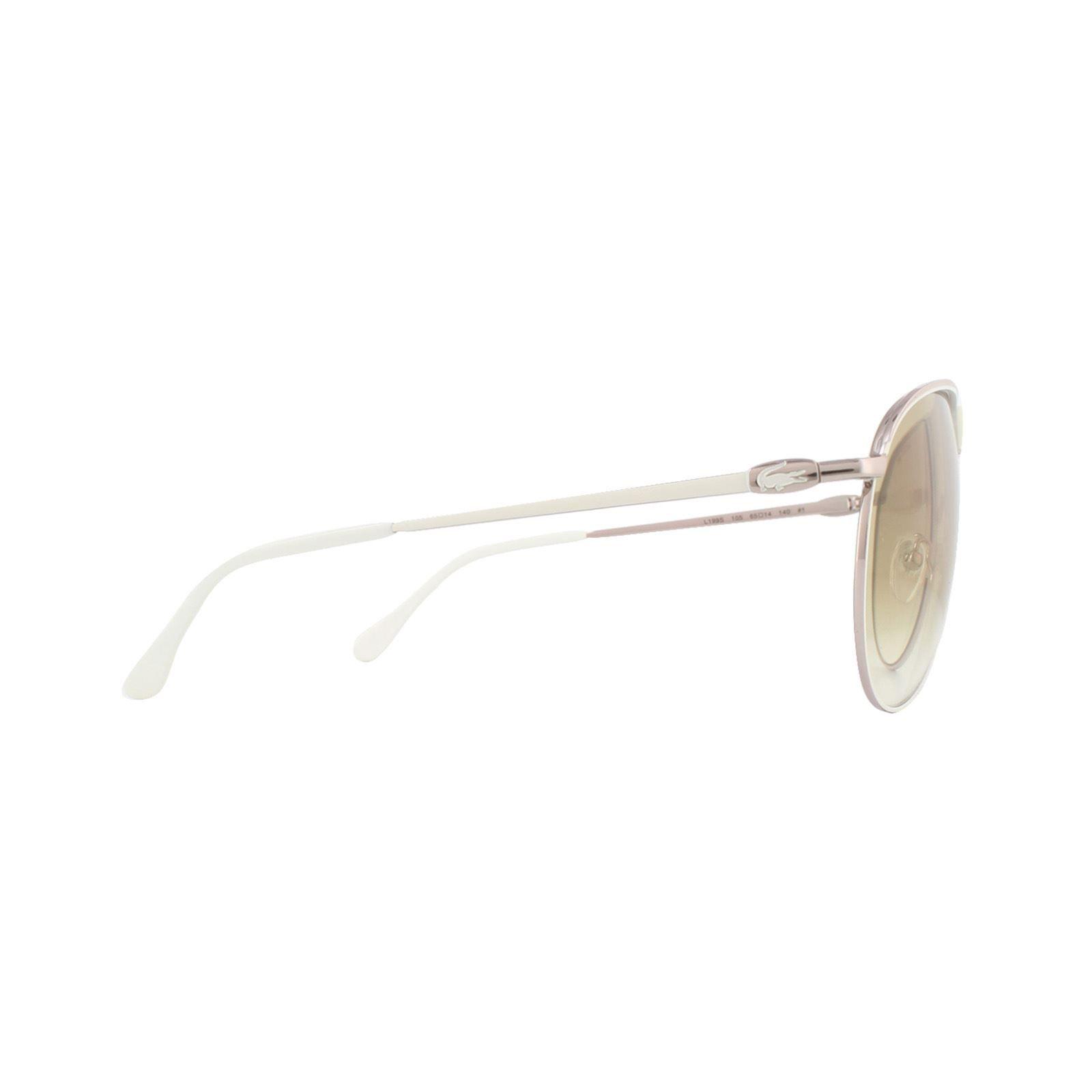 Lacoste Sunglasses L199S 105 Gold White Brown Gradient