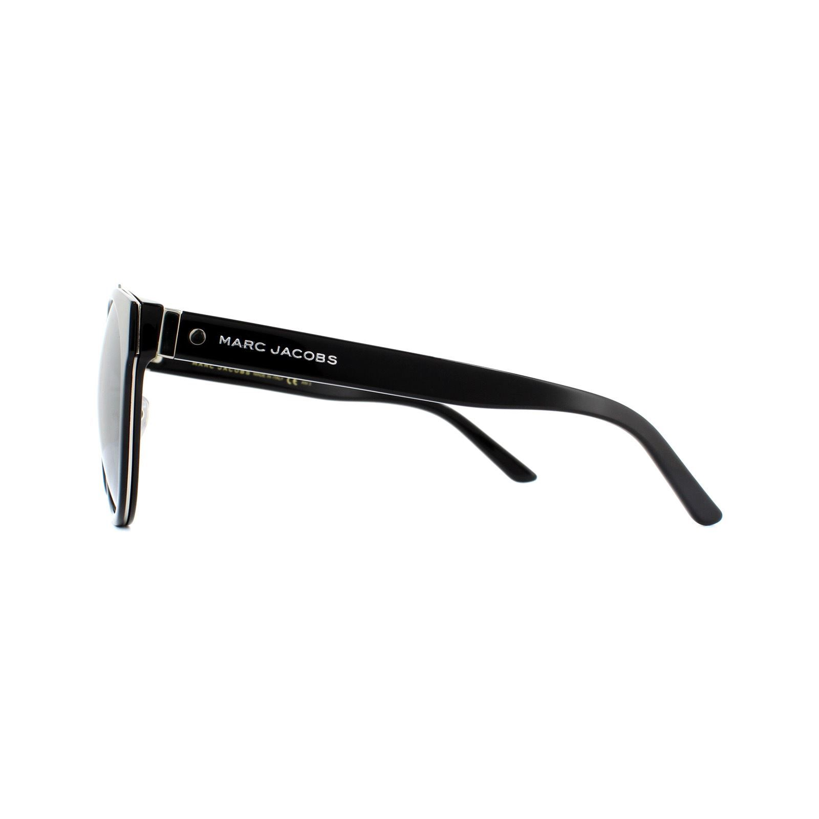 Marc Jacobs Sunglasses MARC 80/F/S 807 T4 Black Silver Mirror