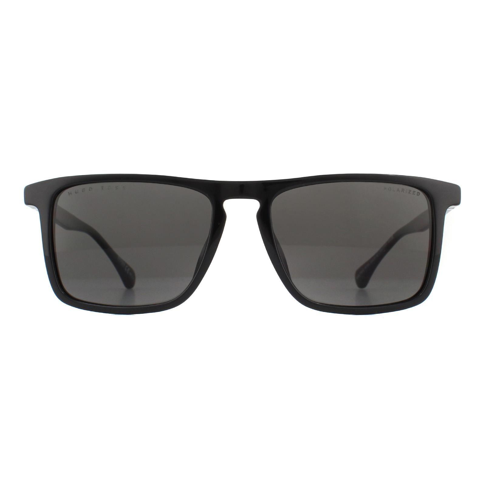 Hugo Boss Sunglasses 1082/S 807 M9 Black Grey Polarized