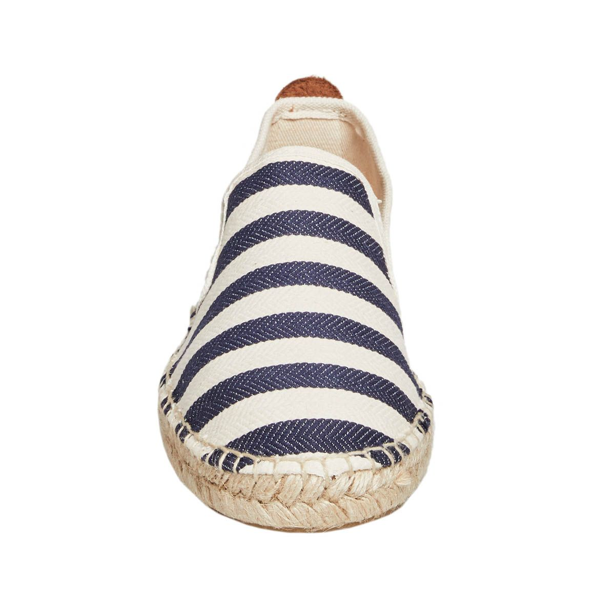 Leindia Artisanal Espadrille in Blue Stripe
