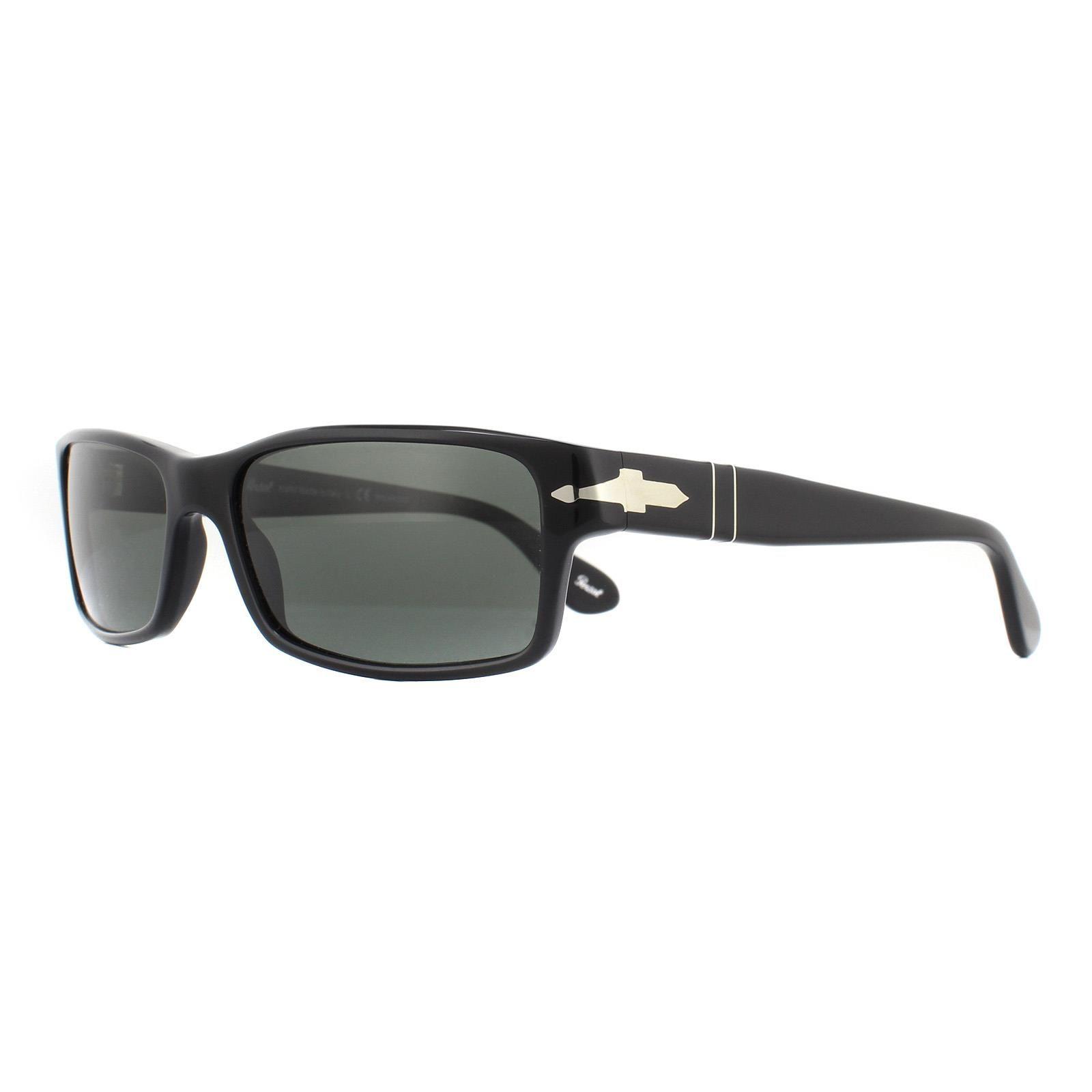 Persol Sunglasses 2747 95/48 Black Crystal Green Polarized