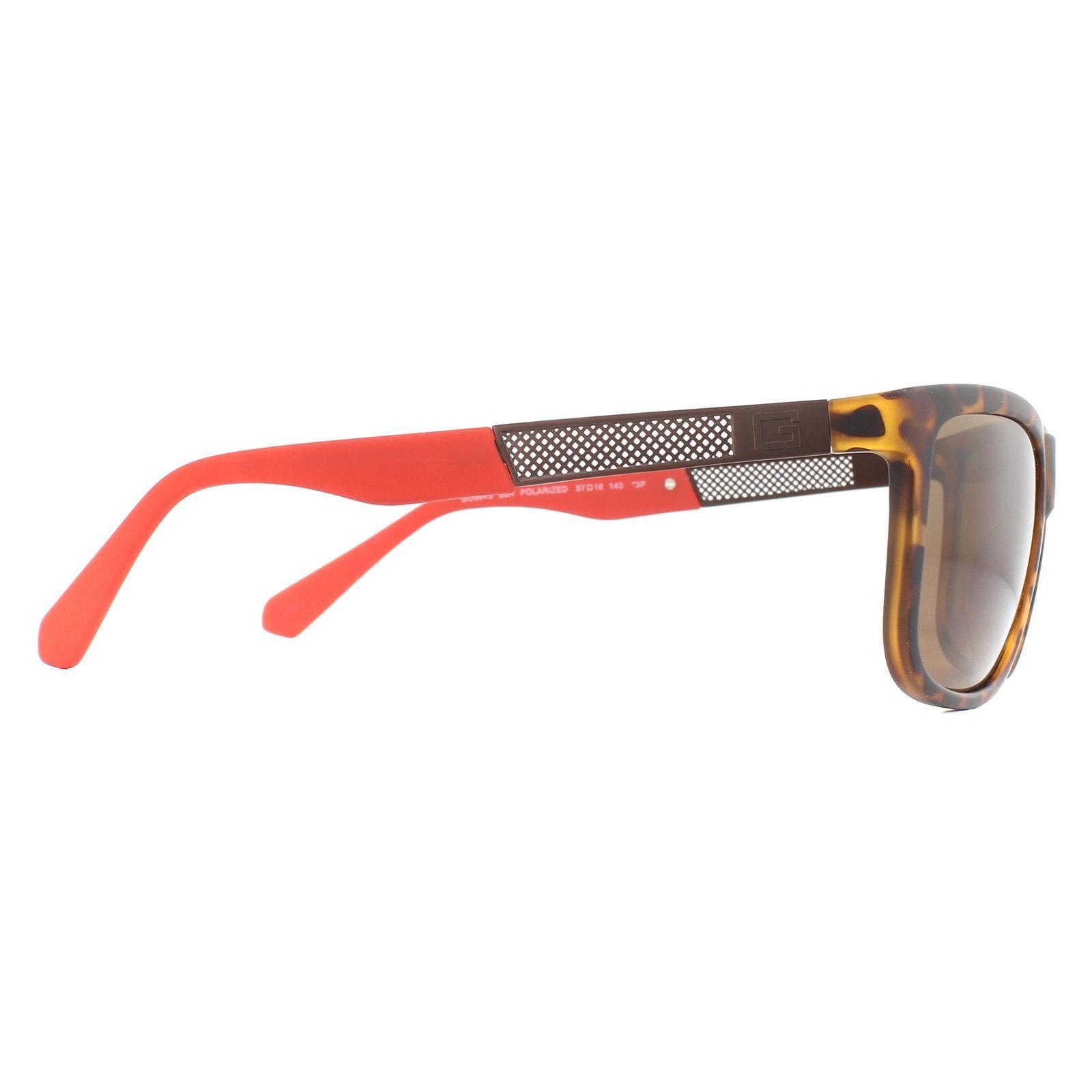 Guess Sunglasses GU6843 52H Dark Havana Brown Polarized