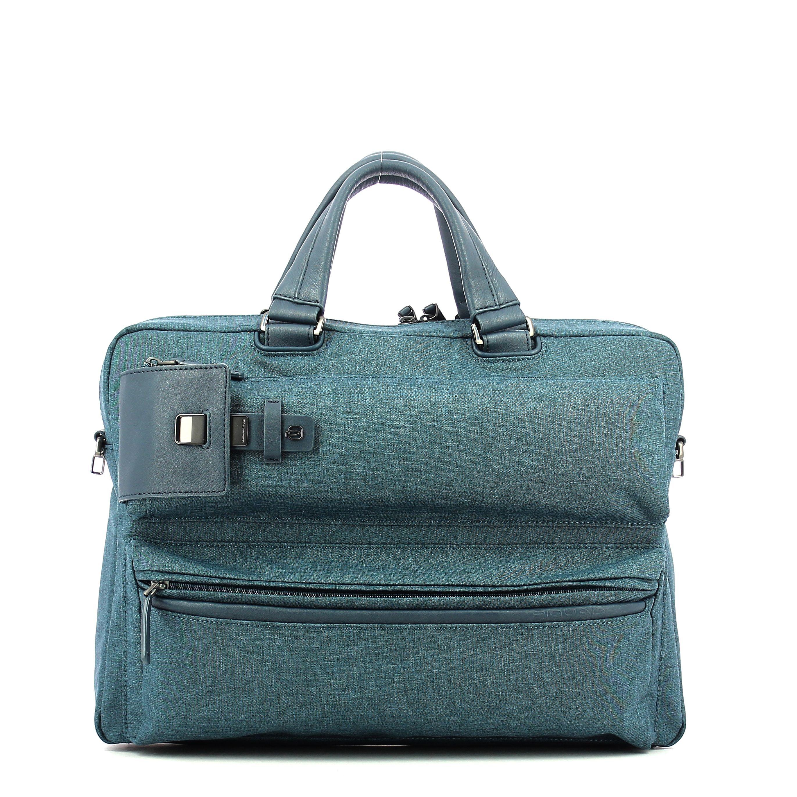 Portfolio computer briefcase Yukon 15.0 Piquadro BLU
