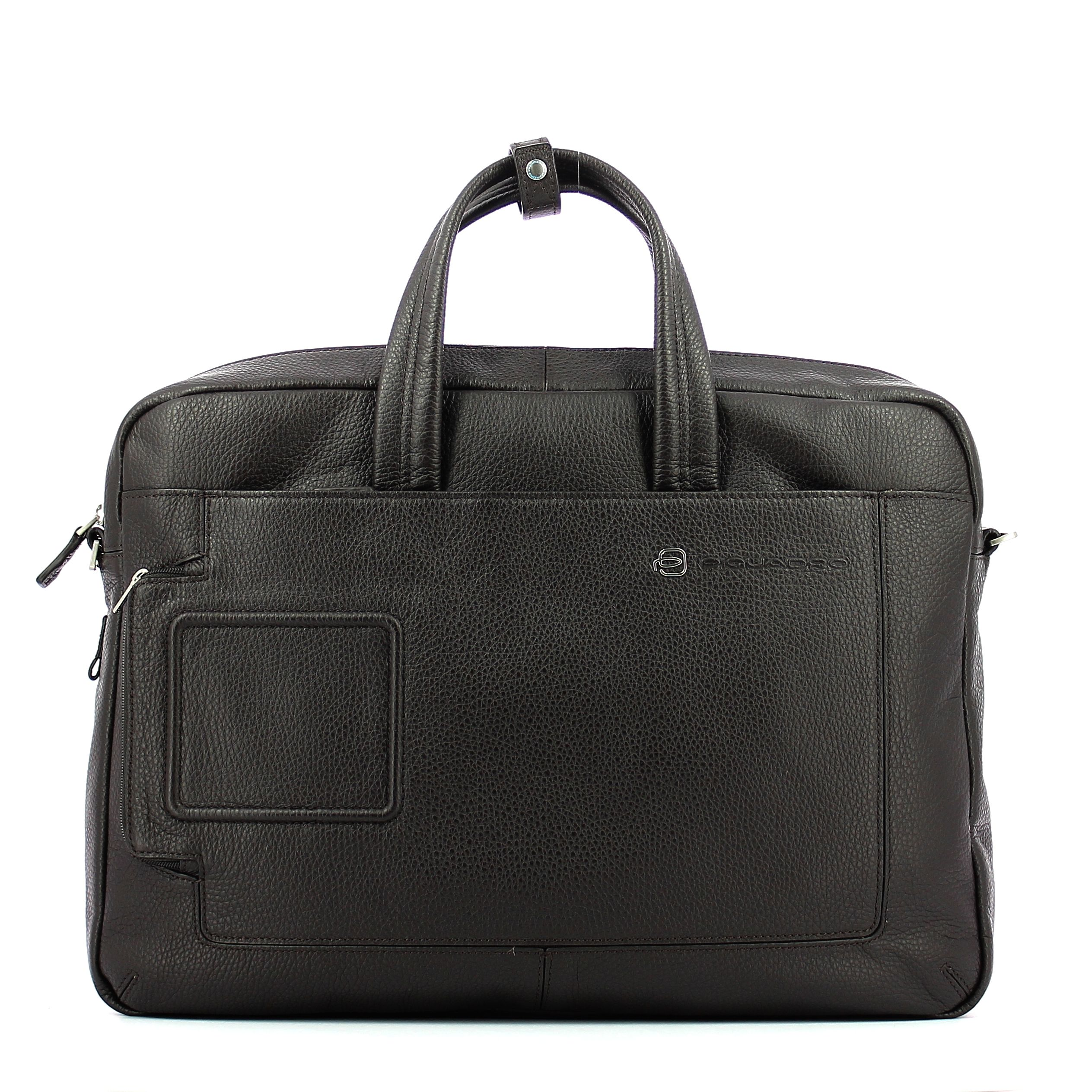 Double handle laptop briefcase Vibe 15.6 Piquadro TESTA MORO