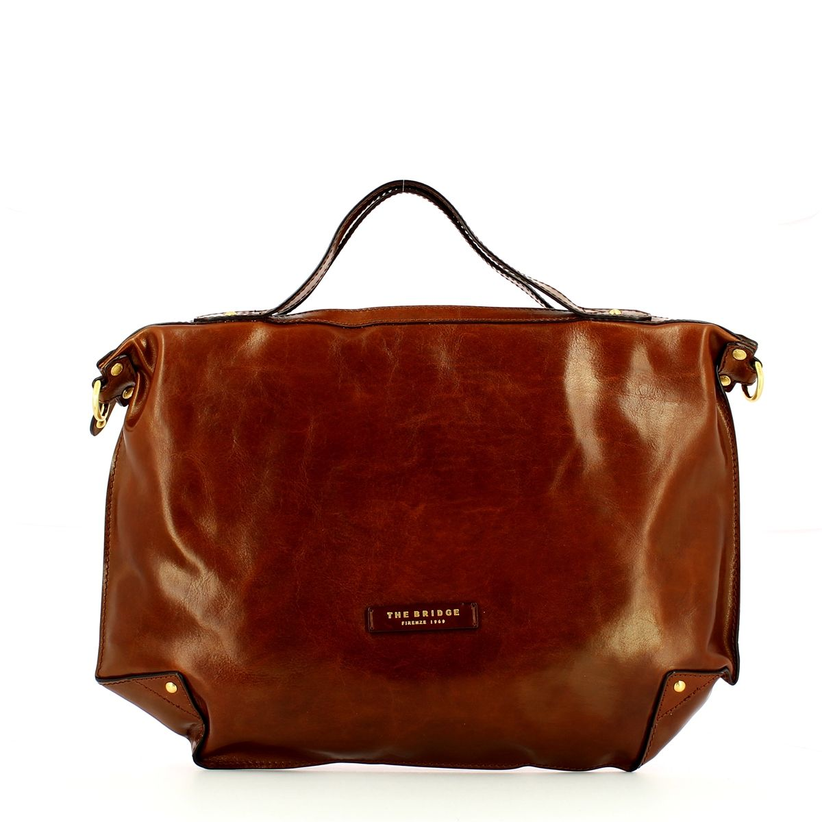 Unica Soft Top Handle Bag The Bridge MARRONE TB 14