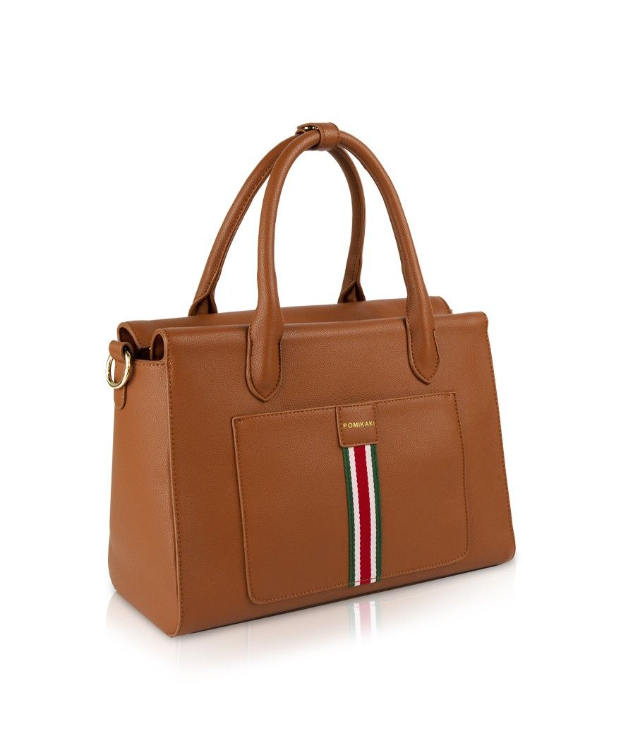 Handbag Sixty Pomikaki BROWN