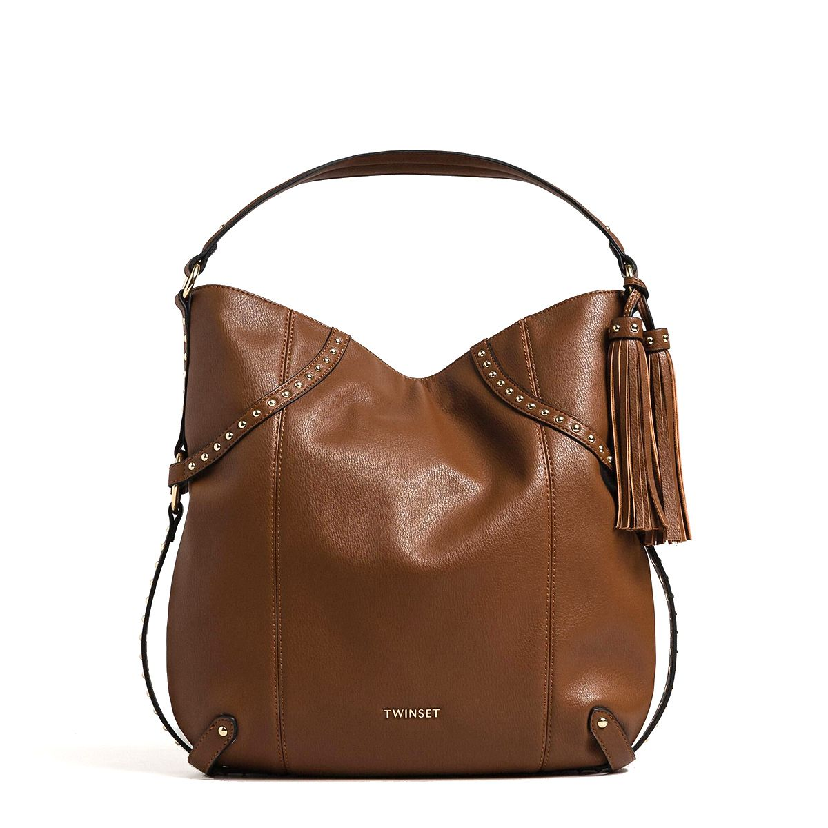 Studded Hobo Bag Twin Set CUOIO