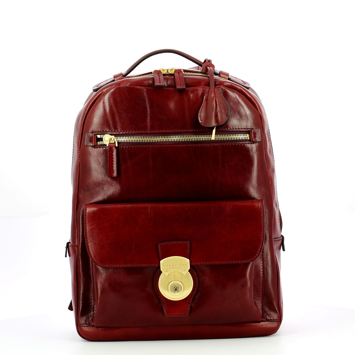 Capalbio Backpack with front lock The Bridge BORDEAUX ABB. O