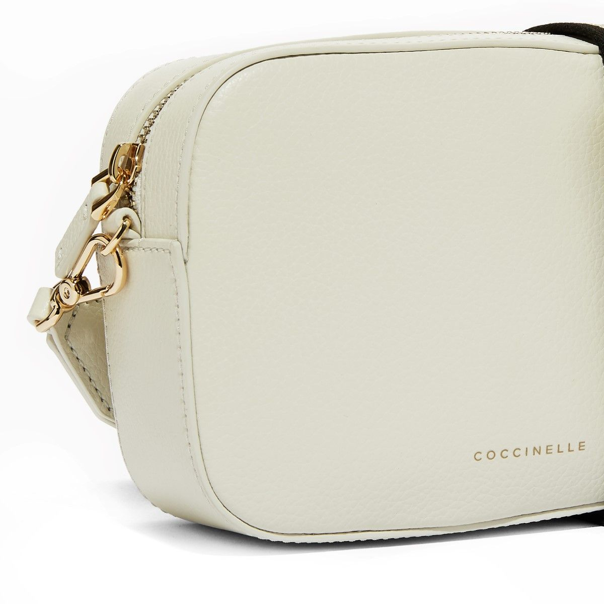 Tebe Crossbody Bag in Tumbled Leather Coccinelle CHALK