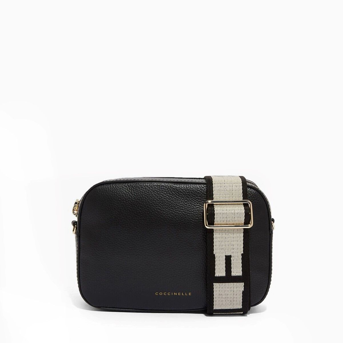 Tebe Crossbody Bag in Tumbled Leather Coccinelle NOIR