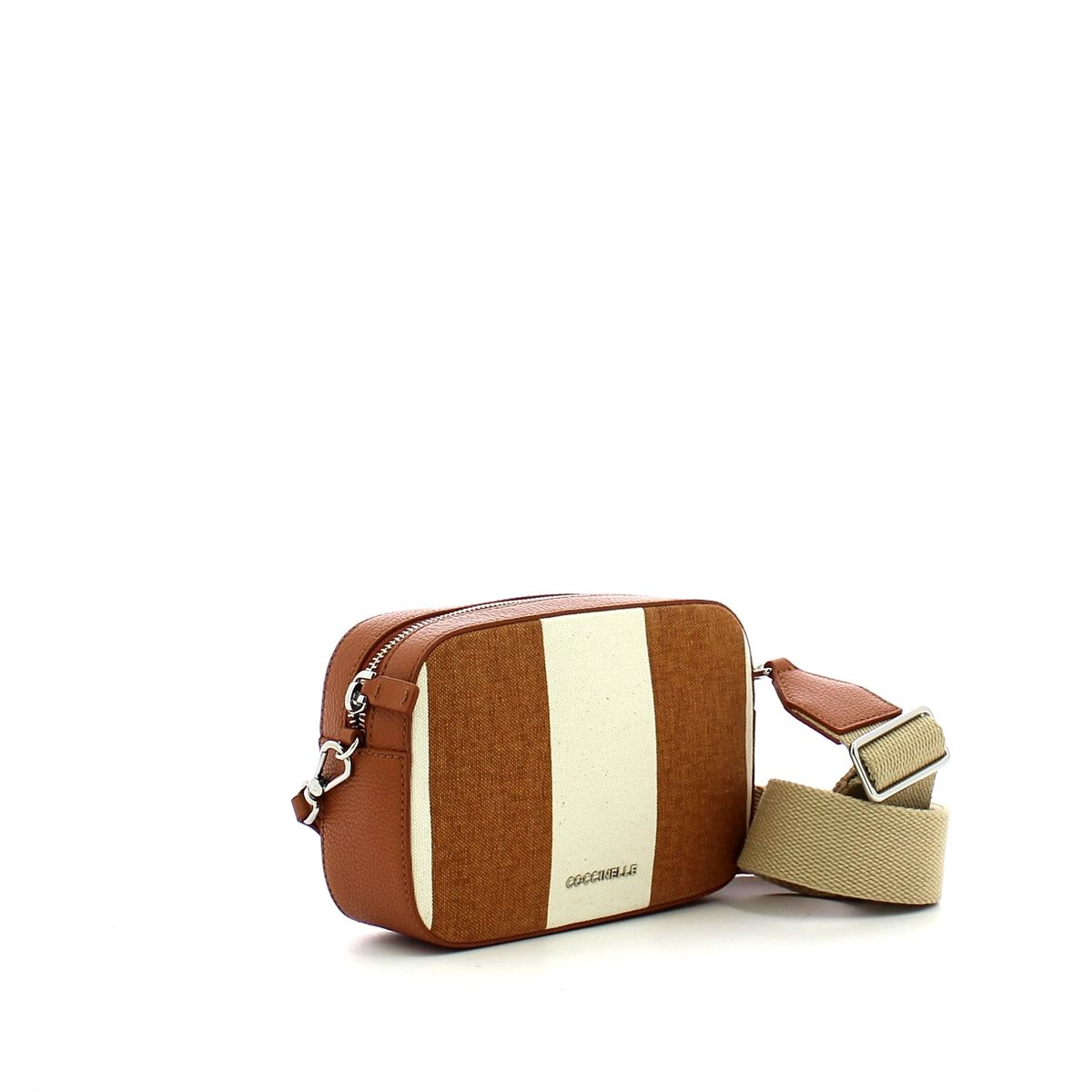 Tebe Crossbody Bag Stripes Canvas Coccinelle TAN/TAN