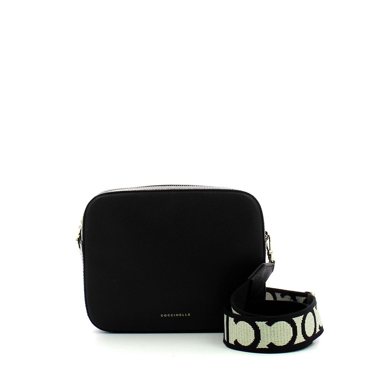 Mini Tebe Crossbody Bag in Leather Coccinelle NOIR