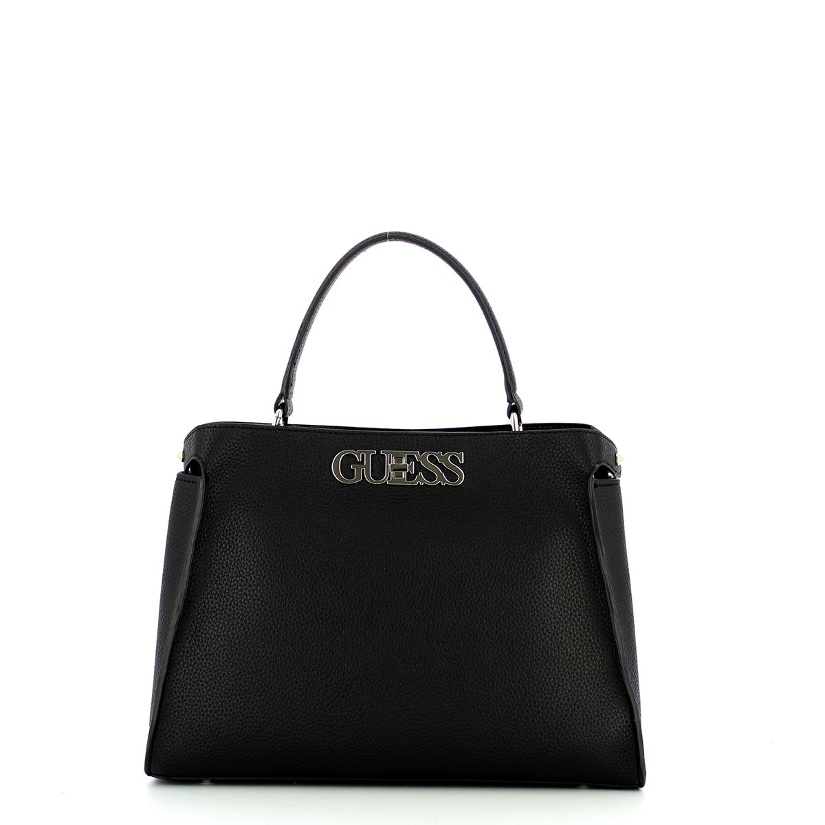 Large Uptown Chic Turnlock Satchel Guess BLACK