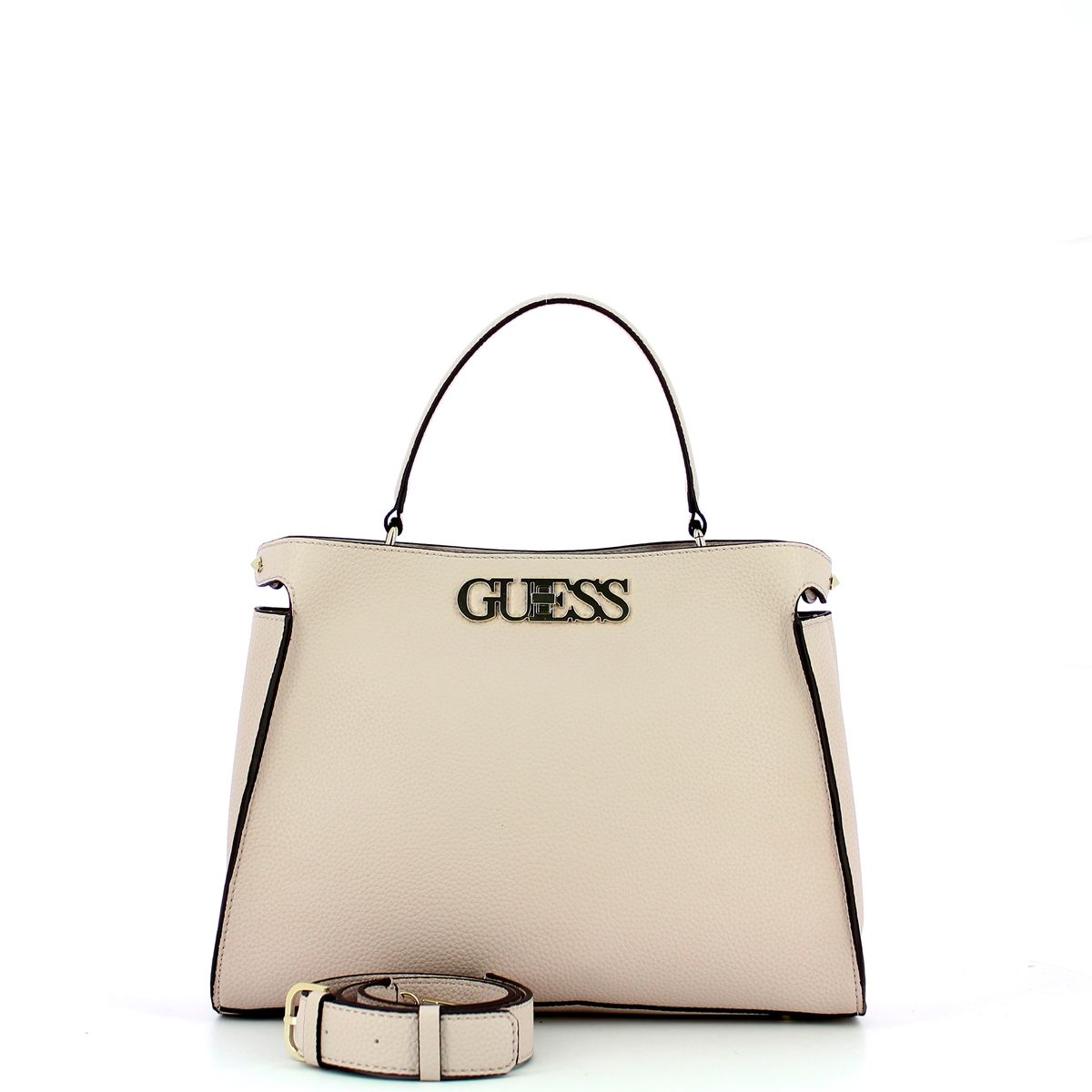 Large Uptown Chic Turnlock Satchel Guess MOONSTONE