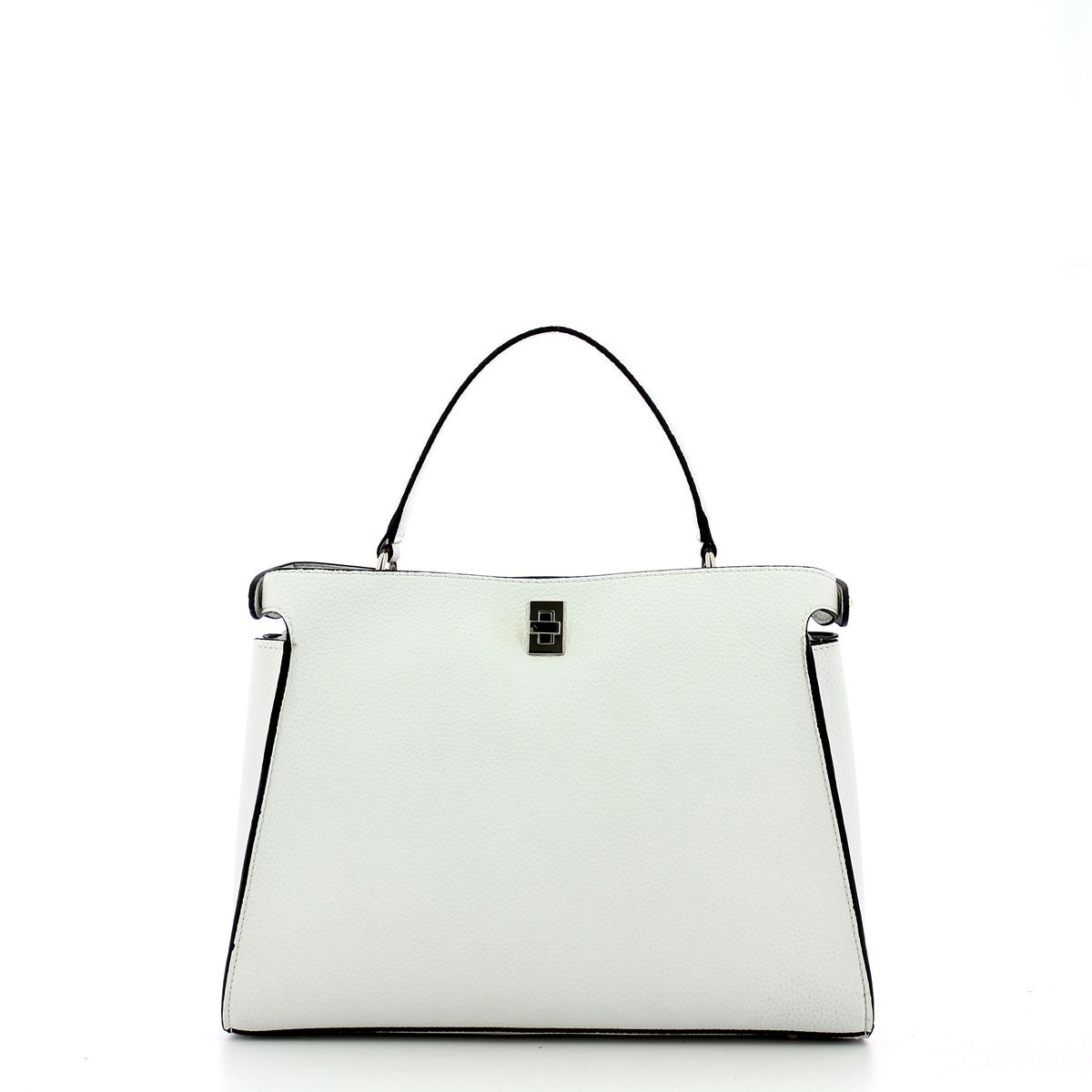 Large Uptown Chic Turnlock Satchel Guess WHITE