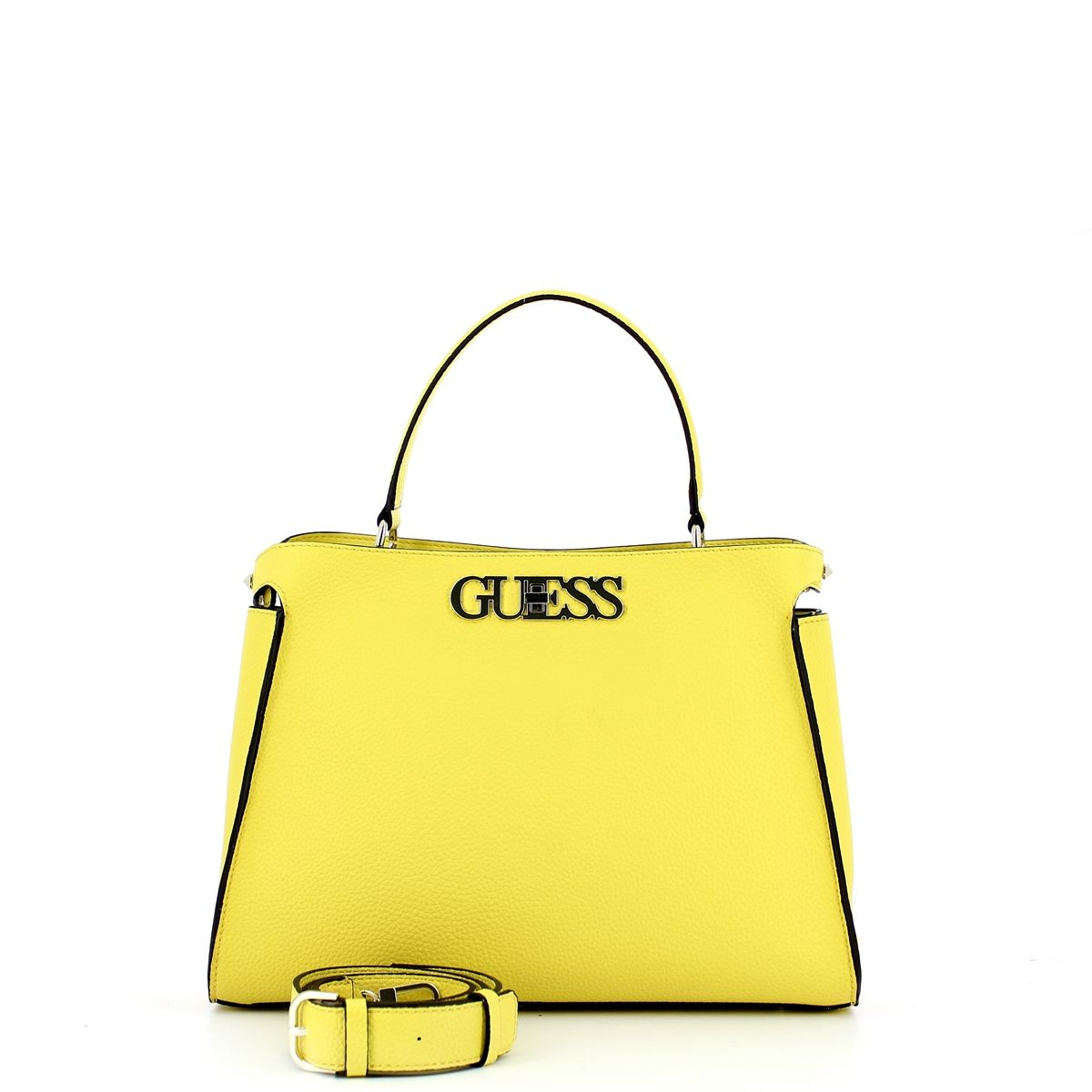 Large Uptown Chic Turnlock Satchel Guess YELLOW