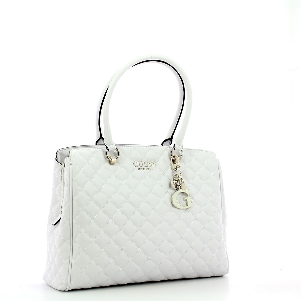 Quilted Carryall Melise Guess WHITE