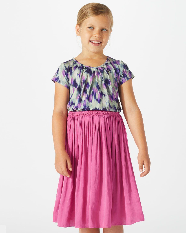 Crocus Drape Midi Skirt