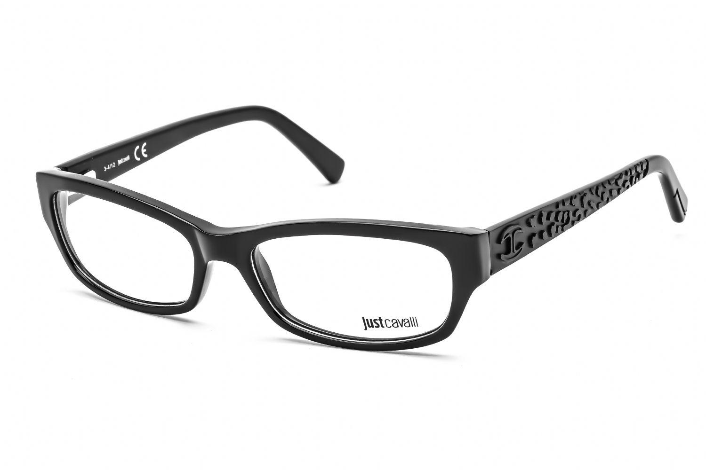 Just Cavalli Rectangular acetate Women Eyeglasses Shiny Black / Clear Lens