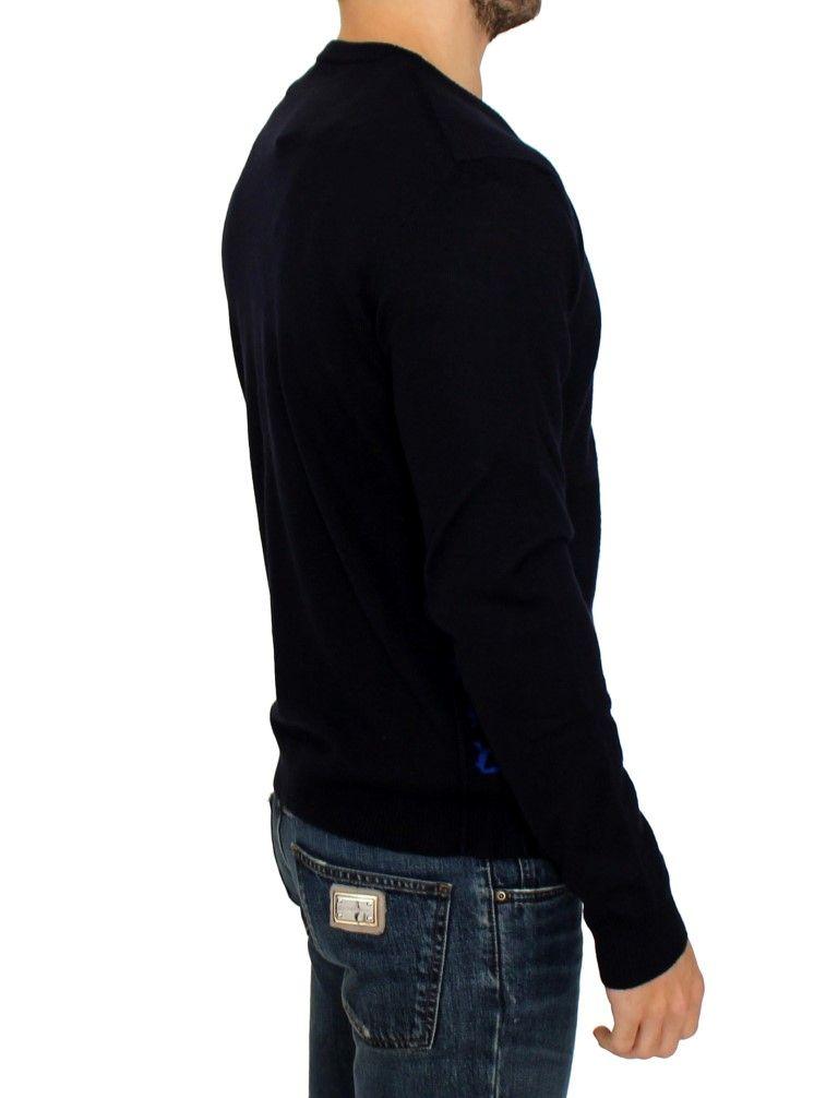 Galliano Dark blue wool cardigan