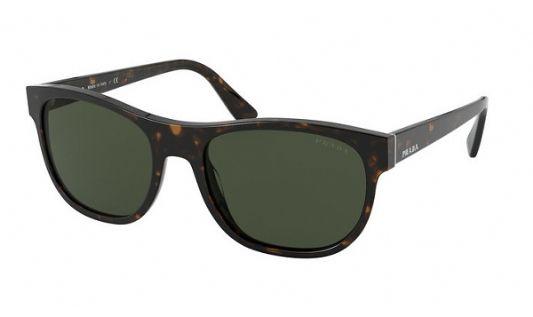Prada Rectangular plastic Men Sunglasses Heritage Havana/Green