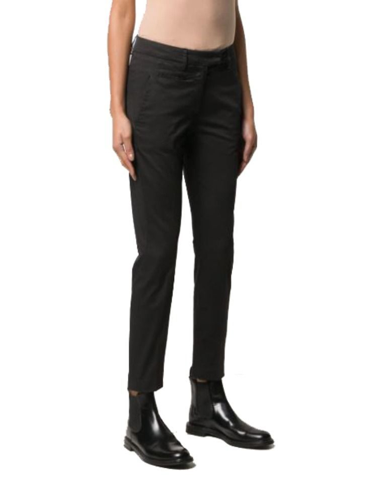 DONDUP WOMEN'S DP066RSE036DPTDDD999 BLACK COTTON PANTS