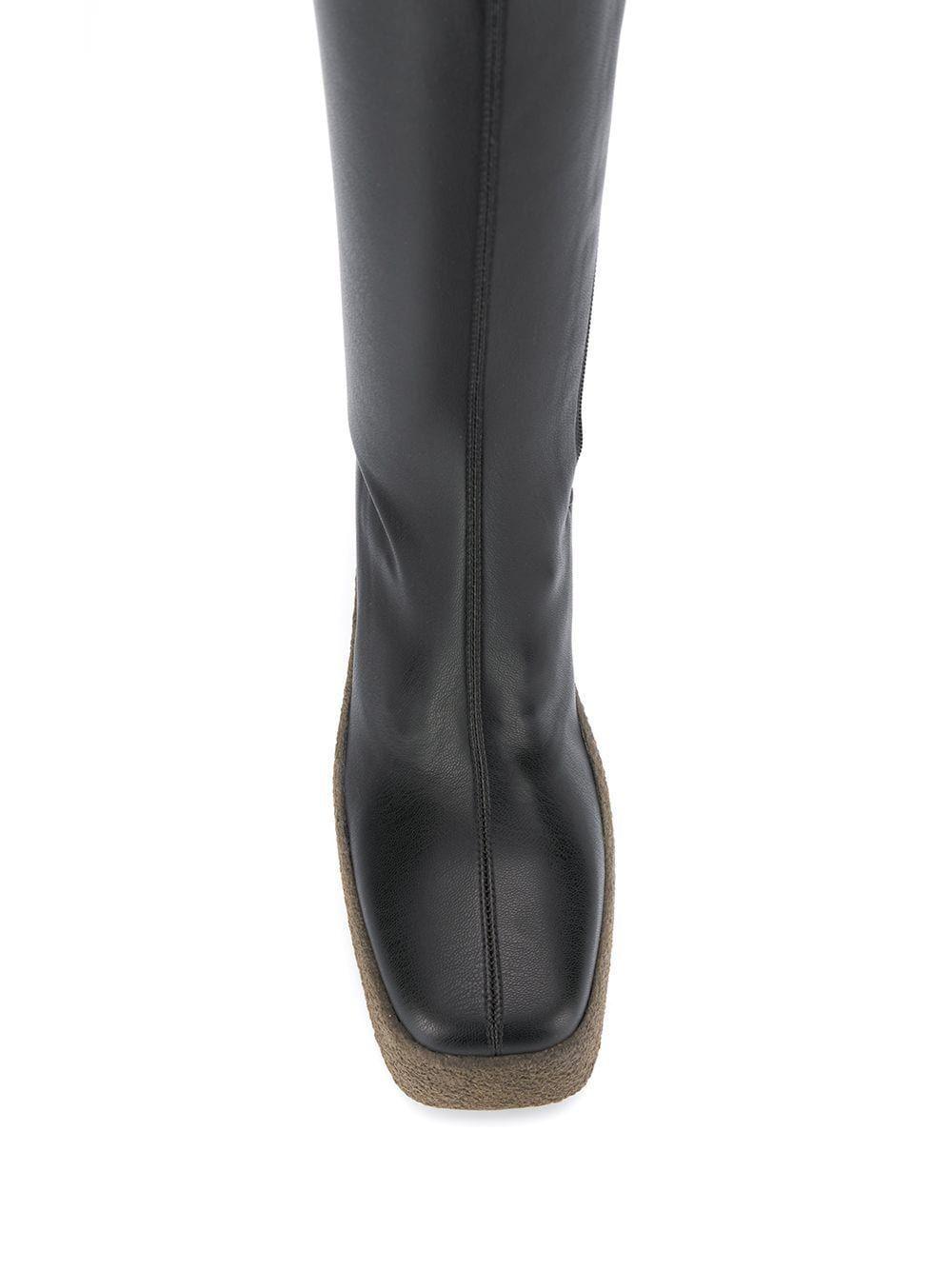 STELLA MCCARTNEY WOMEN'S 594131W1CV01000 BLACK POLYURETHANE BOOTS