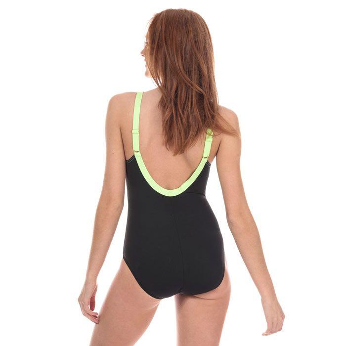 Women's Speedo Sculpture Aquajewel Swimsuit in Black Grey