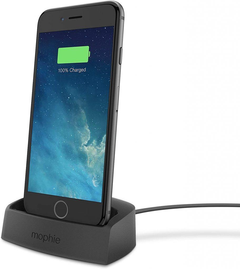 Mophie Desktop Charging Dock Lightning for iPhone 6/5s/5 Black