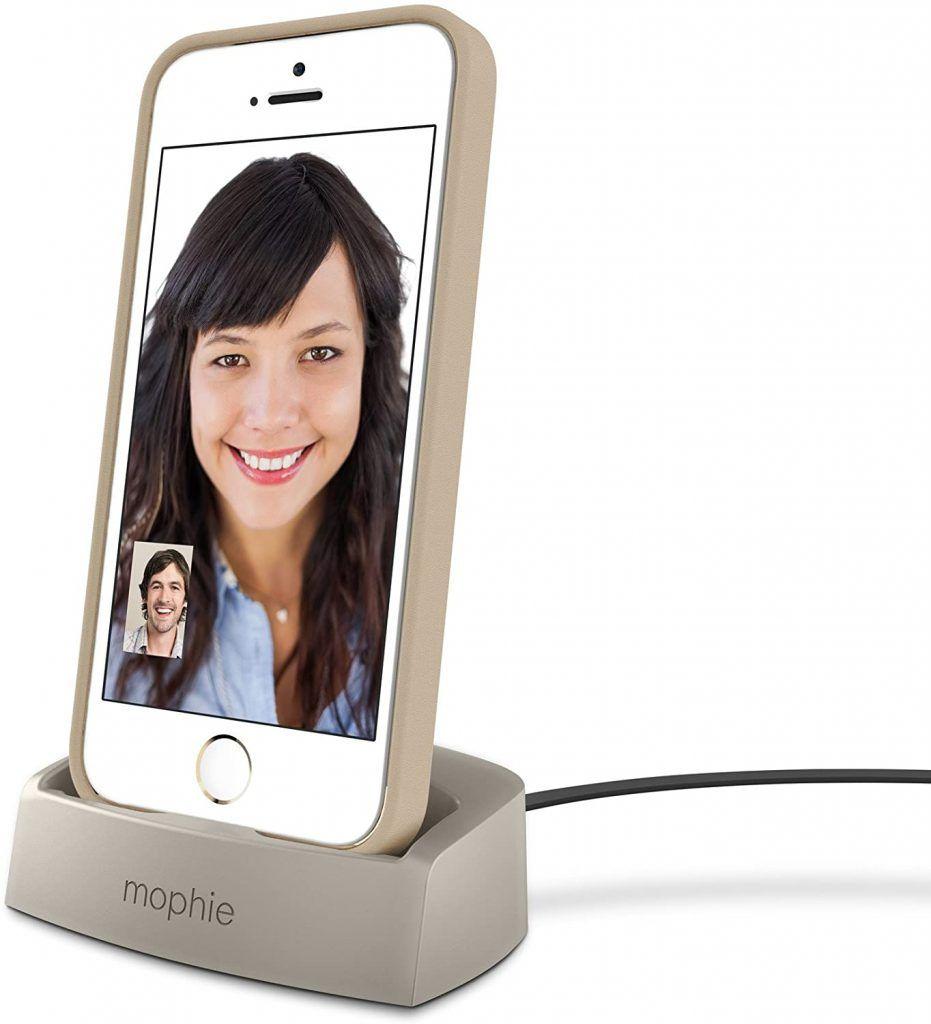 Mophie Desktop Charging Dock Lightning for iPhone 6/s/5 Gold