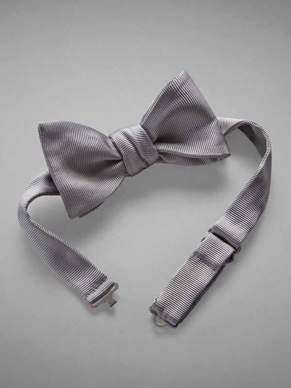 Grosgrain Woven Silk Bow Tie